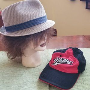 TWO Men's Hats: One Size Cap/Size 8 Fedora
